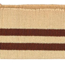 Boord khaki-donker bruin gestreept ca. 62 cm (6 stuks)