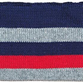 Boord donker blauw-grijs-rood gestreept ca. 45 cm (6 stuks)