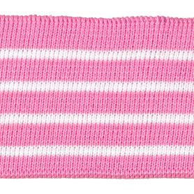 Boord roze met witte streepjes ca. 52 cm (6 stuks)