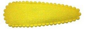 Haarknip met haarkniphoesje vilt geel 5 cm (ca. 100 stuks)