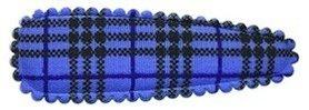 Haarkniphoesje burberry ruit blauw 5 cm (ca. 100 stuks)