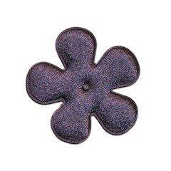 Applicatie bloem antraciet satijn effen middel 35 mm (ca. 100 stuks)
