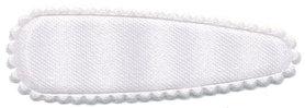 Haarkniphoesje satijn wit 5 cm (ca. 100 stuks)