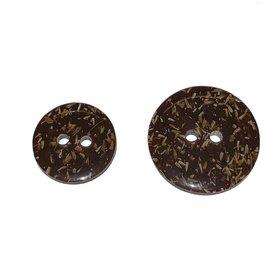 Cocos-look knoop bruin 20 mm (ca. 25 stuks)