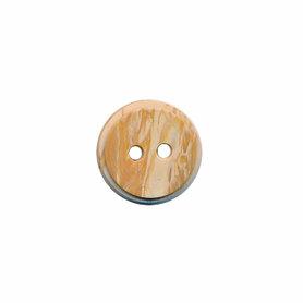 Hout-look knoop licht bruin 11 mm (ca. 100 stuks)