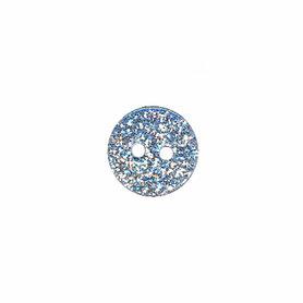 Ronde knoop zilver glitter 11 mm (ca. 25 stuks)