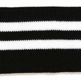 Boord zwart-wit gestreept ca. 65 cm (6 stuks)