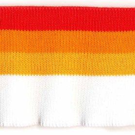 Boord rood-donker oranje-oranje-wit gestreept ca. 60 cm (6 stuks)