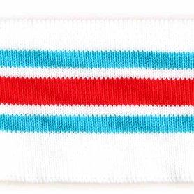 Boord blauw-rood-wit gestreept ca. 50 cm (6 stuks)