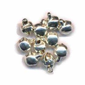Belletjes zilverkleurig 6 mm (ca. 200 stuks)