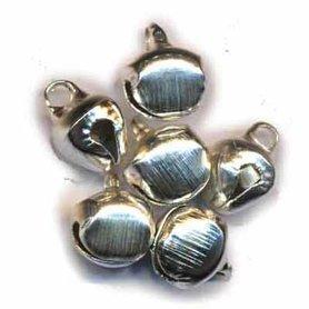 Belletjes zilverkleurig 10 mm (ca. 200 stuks)