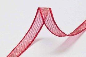 Glanslint rood 7 mm (ca. 30 m)