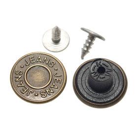Jeans knoop brons 17 mm (ca. 100 stuks)