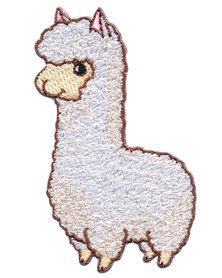 Opstrijkbare applicatie lama (5 stuks)