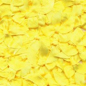 Satijnen strikjes fel geel (ca. 100 stuks)