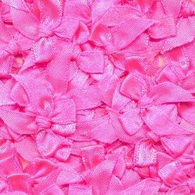 Satijnen strikjes NEON roze (ca. 100 stuks)