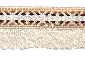Creme franjeband aztec-stijl 35 mm (ca. 5 m)