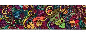 Tassen-/gitaarband 2-zijdig bedrukt 50 mm - multi color (5 m)