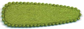 Haarkniphoesje fluweel mosgroen 5 cm (ca. 100 stuks)