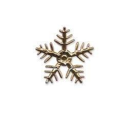 Applicatie sneeuwvlok goudkleurig klein 25 x 25 mm (ca. 100 stuks)