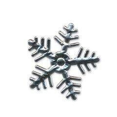 Applicatie sneeuwvlok zilverkleurig middel 35 x 35 mm (ca. 100 stuks)