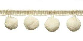Pompom band creme 20 mm (ca. 16 meter)