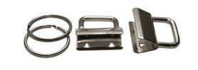 Sleutelhangerklem met sleutelring 25 mm (ca. 25 stuks)