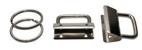 Sleutelhangerklem met sleutelring 30 mm (ca. 25 stuks)