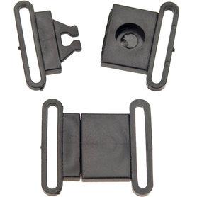 """Klikgesp """"Breakaway"""" zwart kunststof 25 mm (100 stuks)"""