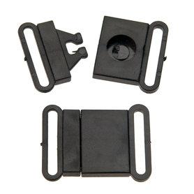 """Klikgesp """"Breakaway"""" zwart kunststof 20 mm (100 stuks)"""