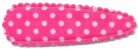 Haarkniphoesje knal roze met witte stip / polkadot 5 cm (ca. 100 stuks)