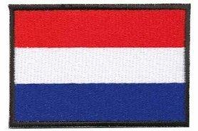 Opstrijkbare applicatie Nederlandse vlag (5 stuks)