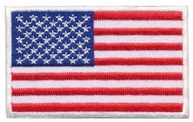Opstrijkbare applicatie vlag USA (5 stuks)