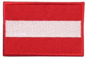 Opstrijkbare applicatie Oostenrijkse vlag (5 stuks)