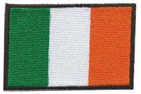 Opstrijkbare applicatie Ierse vlag (5 stuks)