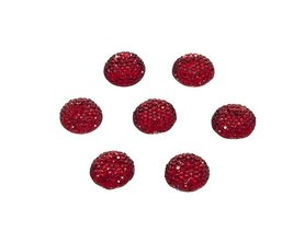 Flatback glitter rond rood 15 x 3 mm (ca. 10 stuks)