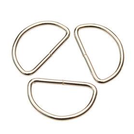 Metalen D-ring zilverkleurig 38 mm (ca. 25 stuks)