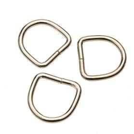 Metalen D-ring zilverkleurig ZWAAR 25 mm (ca. 25 stuks)