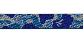 Sierband camouflage blauw 12 mm (ca. 22 m)