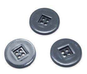 Knoop retro grijs 25 mm (ca. 25 stuks)