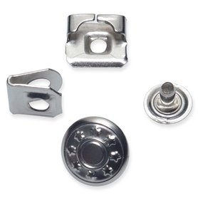 Broek / roksluiting zilverkleurig met jeansknoop 14 mm (ca. 100 stuks)