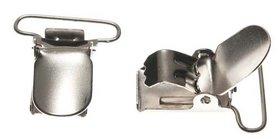 Bretel clip zilverkleurig met ronde hoeken 25 mm (25 stuks)