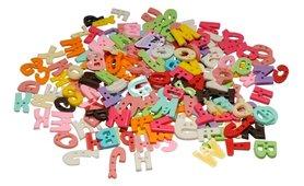 Opnaaibare kunststof letters ca. 16 mm hoog (ca. 250 stuks)