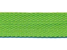 Tassenband 25 mm appelgroen COTTON-LOOK (ca. 50 m)