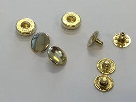 Drukker goudkleurig 12 mm, type VT5 (ca. 25 stuks)