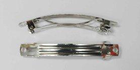 French barette / french clip zilverkleurig 5 cm  (10 stuks)