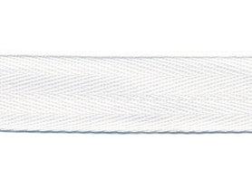 Wit KATOENEN keperband 20 mm (ca. 50 m)