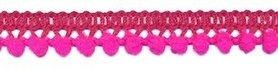 Mini pompomband knal roze 10 mm (ca. 32 meter)