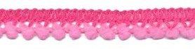 Mini pompomband roze 10 mm (ca. 32 meter)