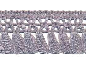 Franje-kwastjesband grijs ca. 32 mm (ca. 16 meter)